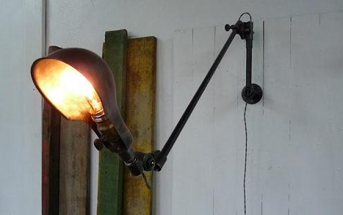 Wo and w collection lampe murale potence pivotante - Lampe murale industrielle ...