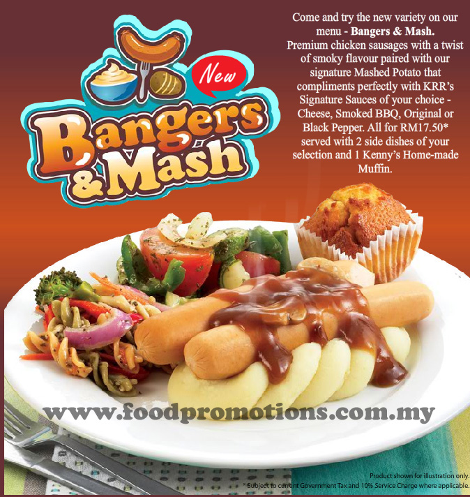 Come and try the new variety on your menu - Bangers & Mash. Premium chicken ...