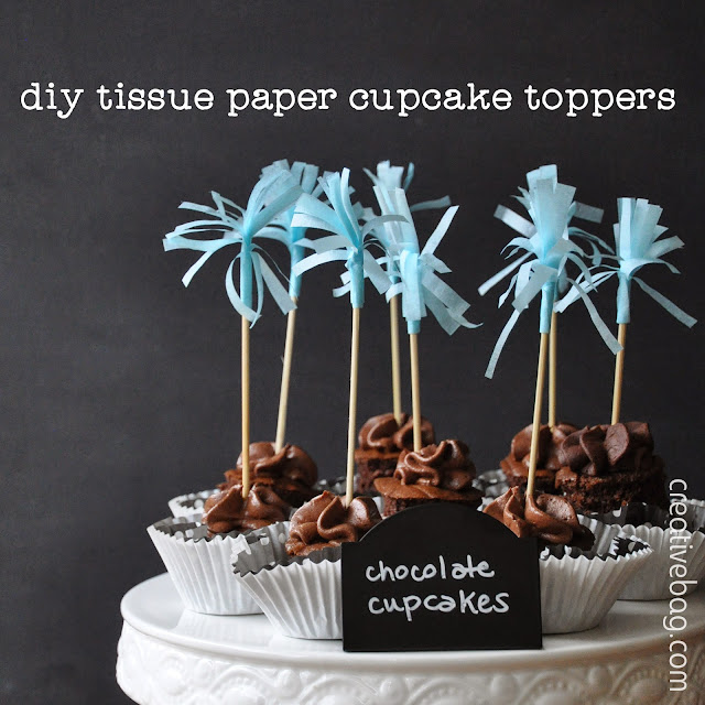 diy tissue paoer cupcake toppers | Creative Bag