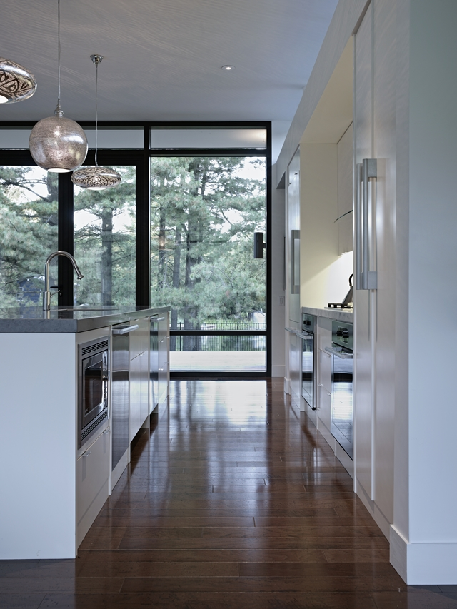 Picture of modern kitchen furniture in the sustainable Clearview Residence