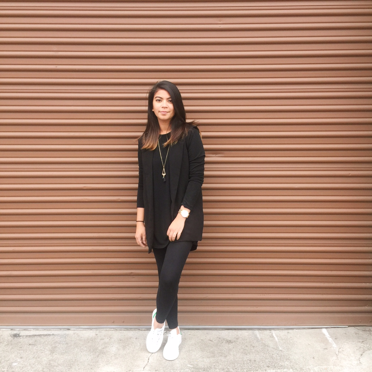 adidas, stan smith, black long sleeve dress, black blazer vest, brandy melville, forever 21,portland blogger, ootd, what i wore, outfit post, blog post, fblogger, pdx fashion blogger, wonder wall wednesday