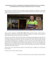 Nuevo apoyo  a José Ramón, despedido por Setex Aparki en Jerez de la Frontera