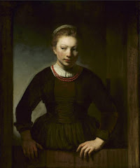 Girl At An Open Half Door, 1645, By Rembrandt