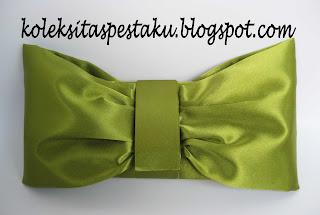 tas pesta hijau seger cantik
