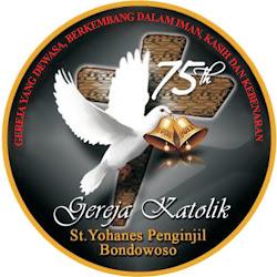 Logo Panitia HUT 75 tahun Paroki Bondowoso