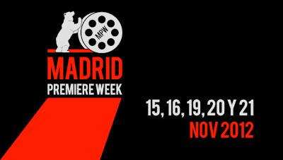 Çartel de la Madrid Premiere Week 2012. La Gran Vía se viste de gala para la Madrid Premiere Week. Making Of