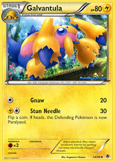 Galvantula Emerging Powers Pokemon Card