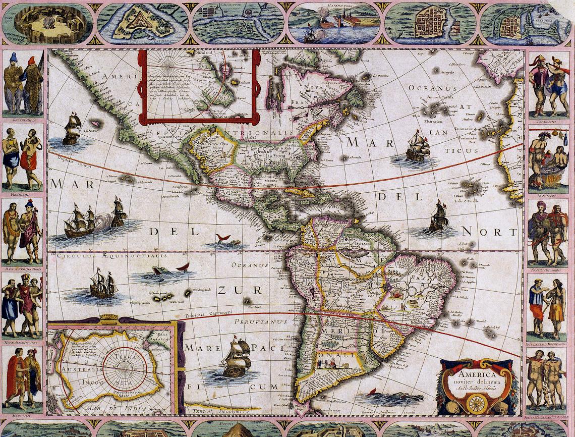 Mapa de América, 1623