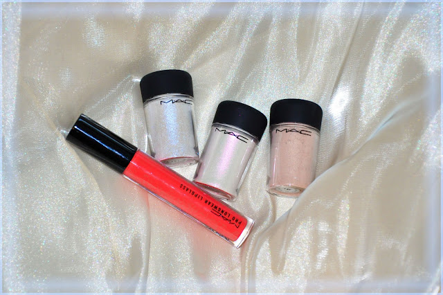 MAC Pigment Frozen white, Pink opal, Naked