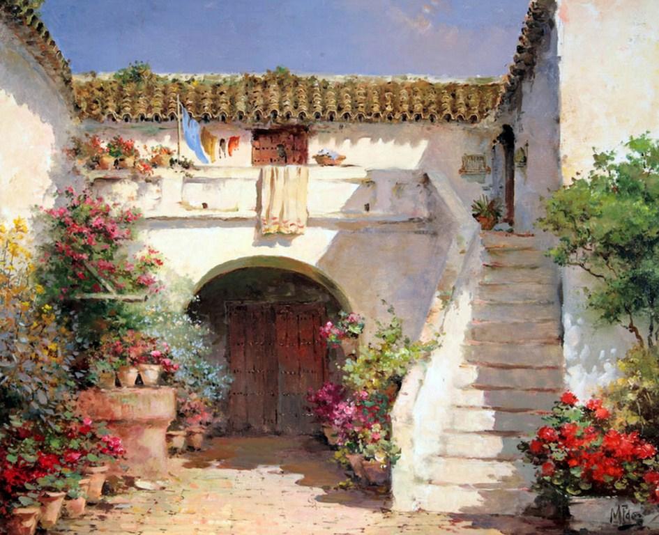 Cuadros modernos pinturas y dibujos 08 29 13 - Paisajes de casas ...