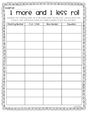 math worksheet : crazy for first grade differentiating math!!! : One More One Less Math Worksheets