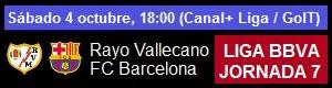 Rayo vs FC Barcelona - Liga BBVA Jornada 7