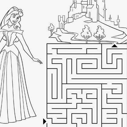 Coloriage labyrinthe princesse aurore coloriage - Jeu de coloriage de princesse ...