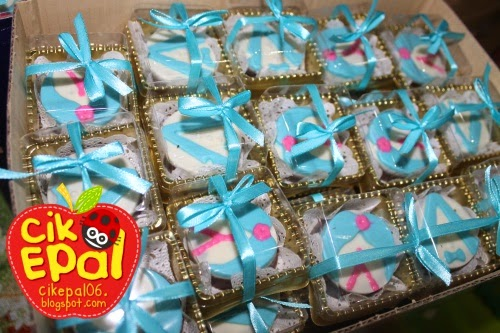 Cik epal door gift idea untuk wedding for Idea door gift tunang