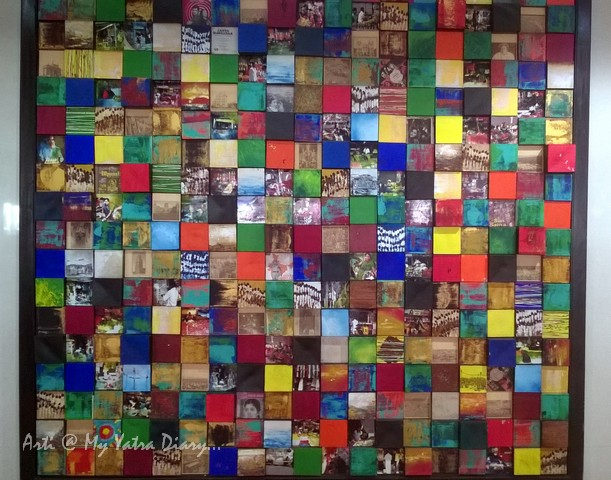 A collage in Art at Mumbai Chhatrapati Shivaji Domestic Airport, Terminal 1A
