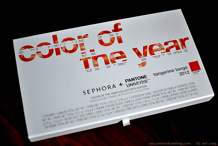 sephora pantone universe colour of the year collection makeup swatches beauty blog 2012 tangerine tango