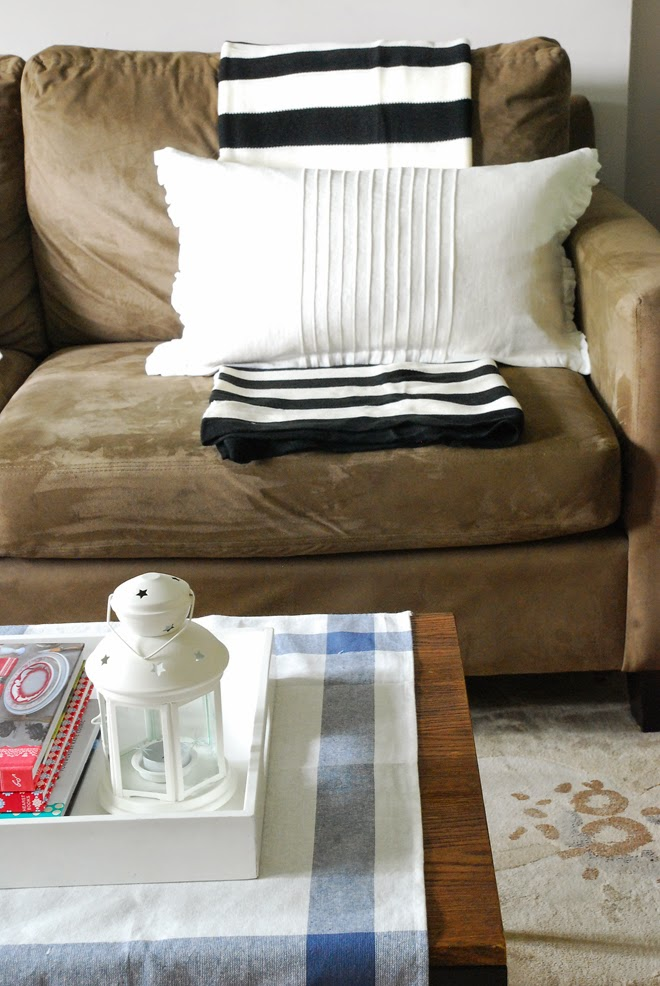 brown sofa living room ikea pillow blanket