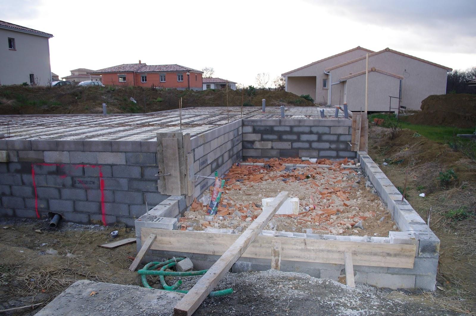 Notre maison bbc par le mas toulousain quelques nouvelles de notre chantier - Maison sur vide sanitaire ...