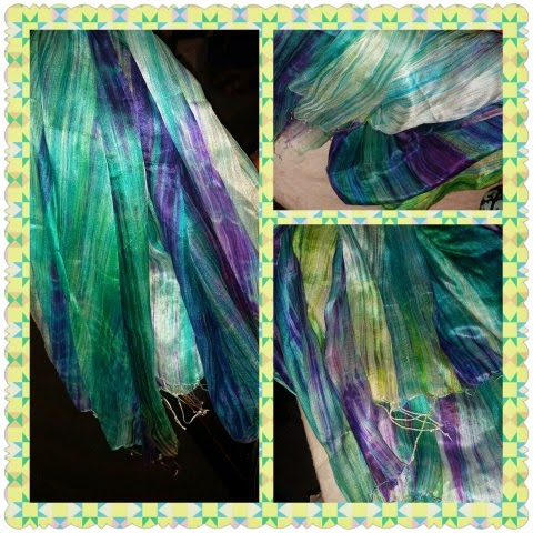 royal silk scarf collage