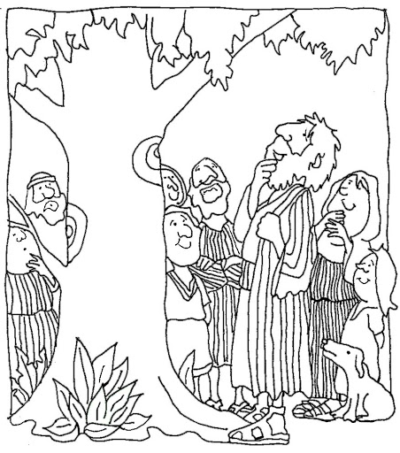 zaqueo coloring pages - photo #26