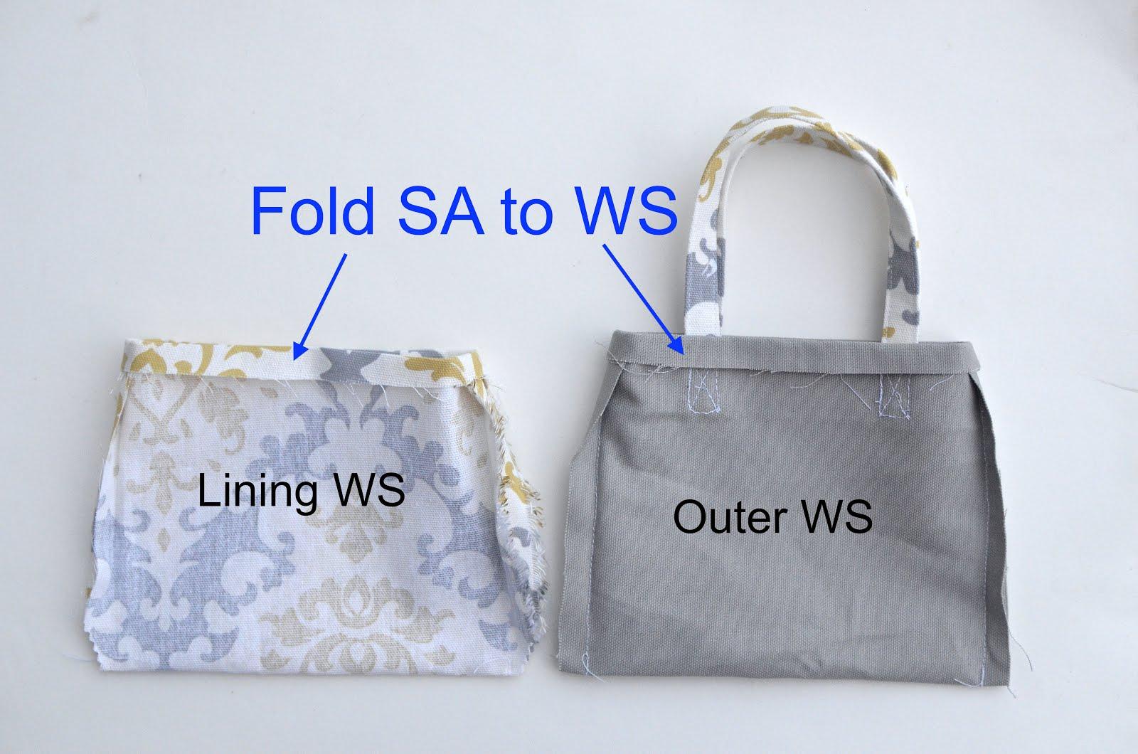 Handbag Lining Material : Tote bag design make a with lining
