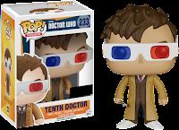 Funko Pop! Tenth Doctor W/ 3D Glasses (HT)