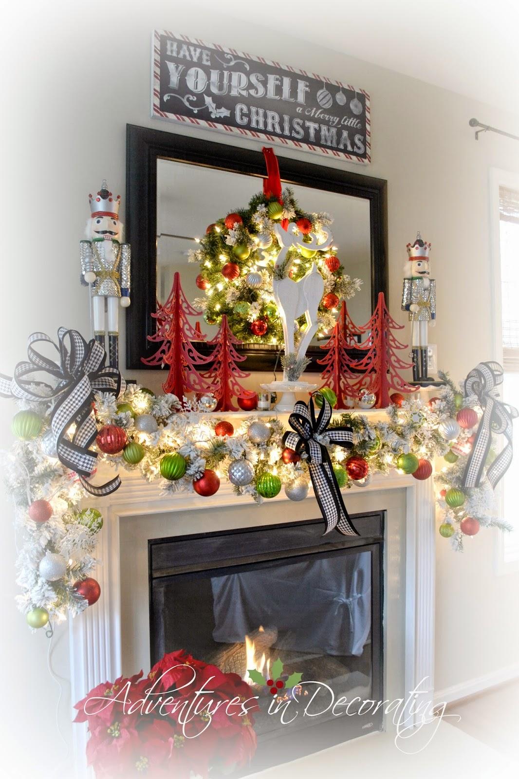 adventures in decorating our 2014 christmas mantel and blog hop. Black Bedroom Furniture Sets. Home Design Ideas