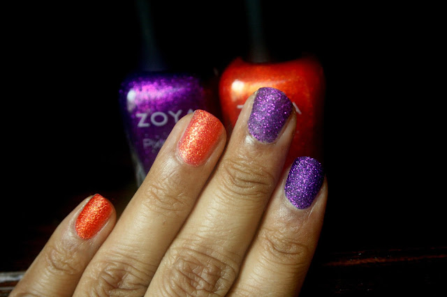 Zoya Nail Polish Fall Pixie Dust in Carter and Dhara Swatch