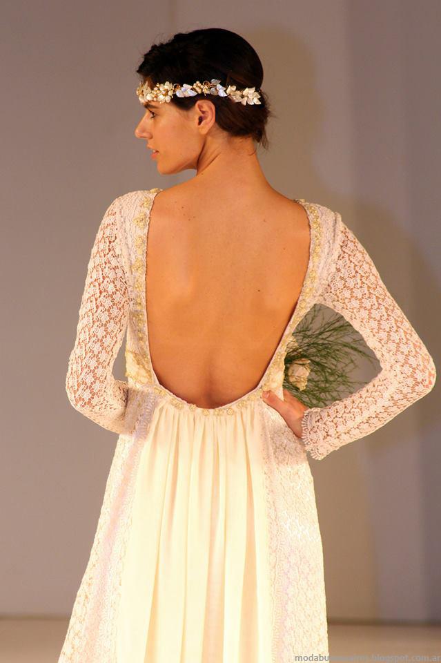 Almendra Peralta Ramos invierno 2014 vestidos de novia vintage.