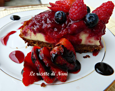 philadelphia cheesecake con frutti di bosco