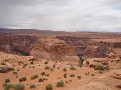 Canyon top of Horseshoe Bend