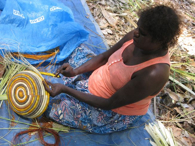Art Of Basket Making : My understanding of aboriginal art performance in painting