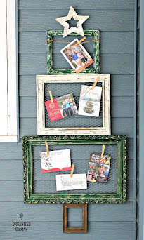 Thrift Shop Frame Christmas Tree Repurpse