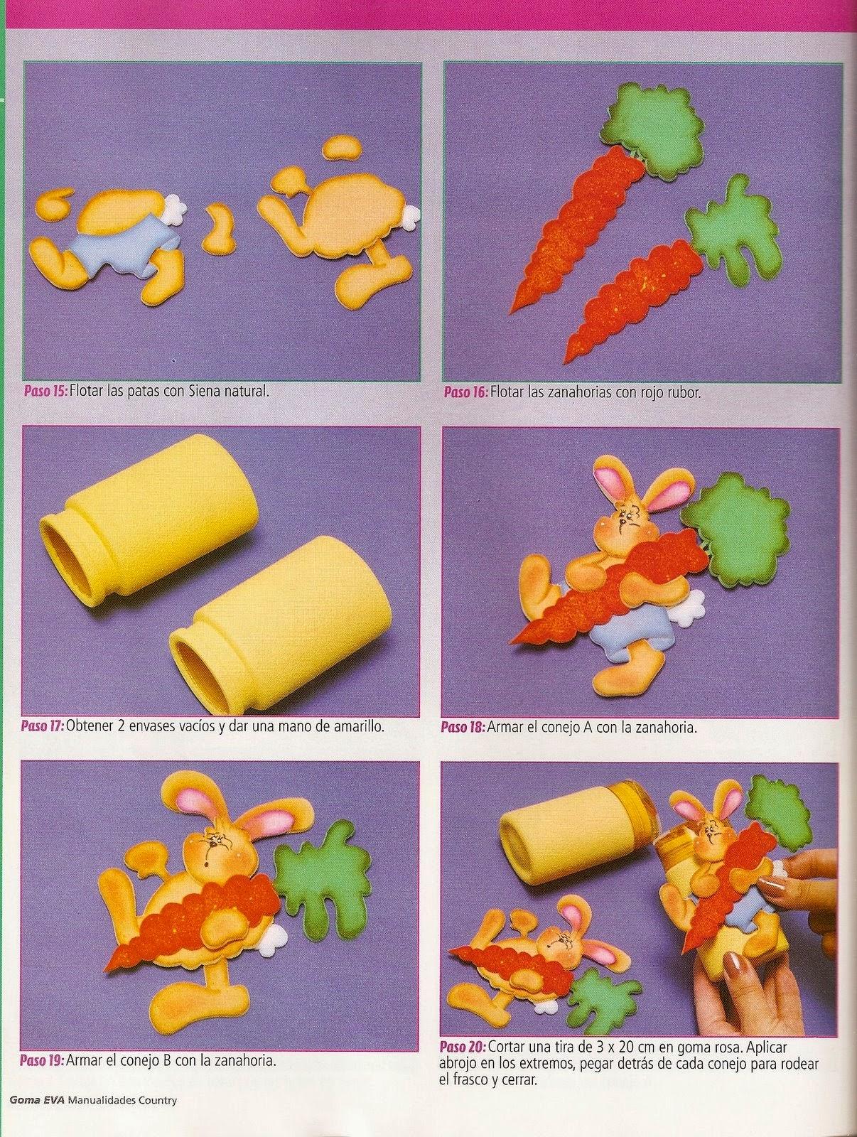 Como decorar tarros con goma eva revistas de for Botes de cocina decorados con goma eva