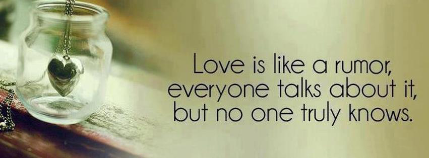 Everyone talks About Love.