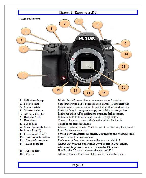 Инструкция pentax k 5 pdf
