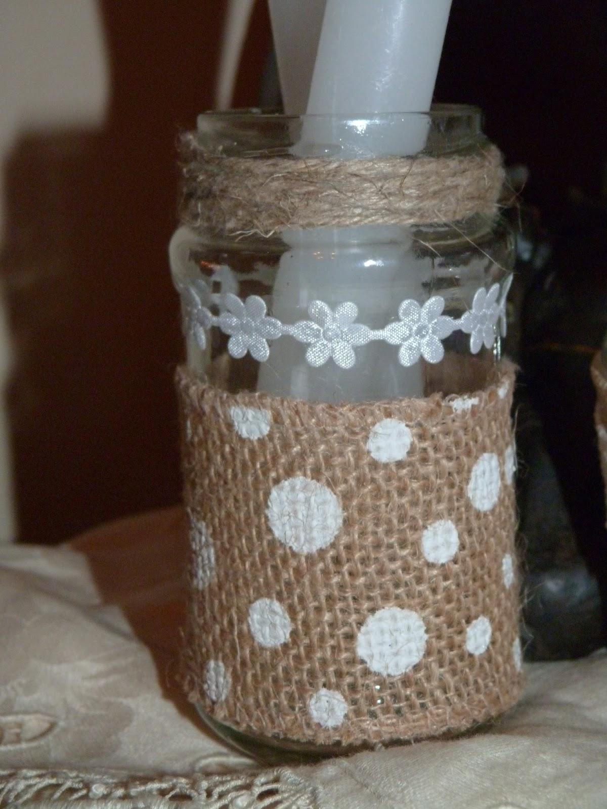 Decorar frasos de cristal isabel vintage - Diy frascos decorados ...
