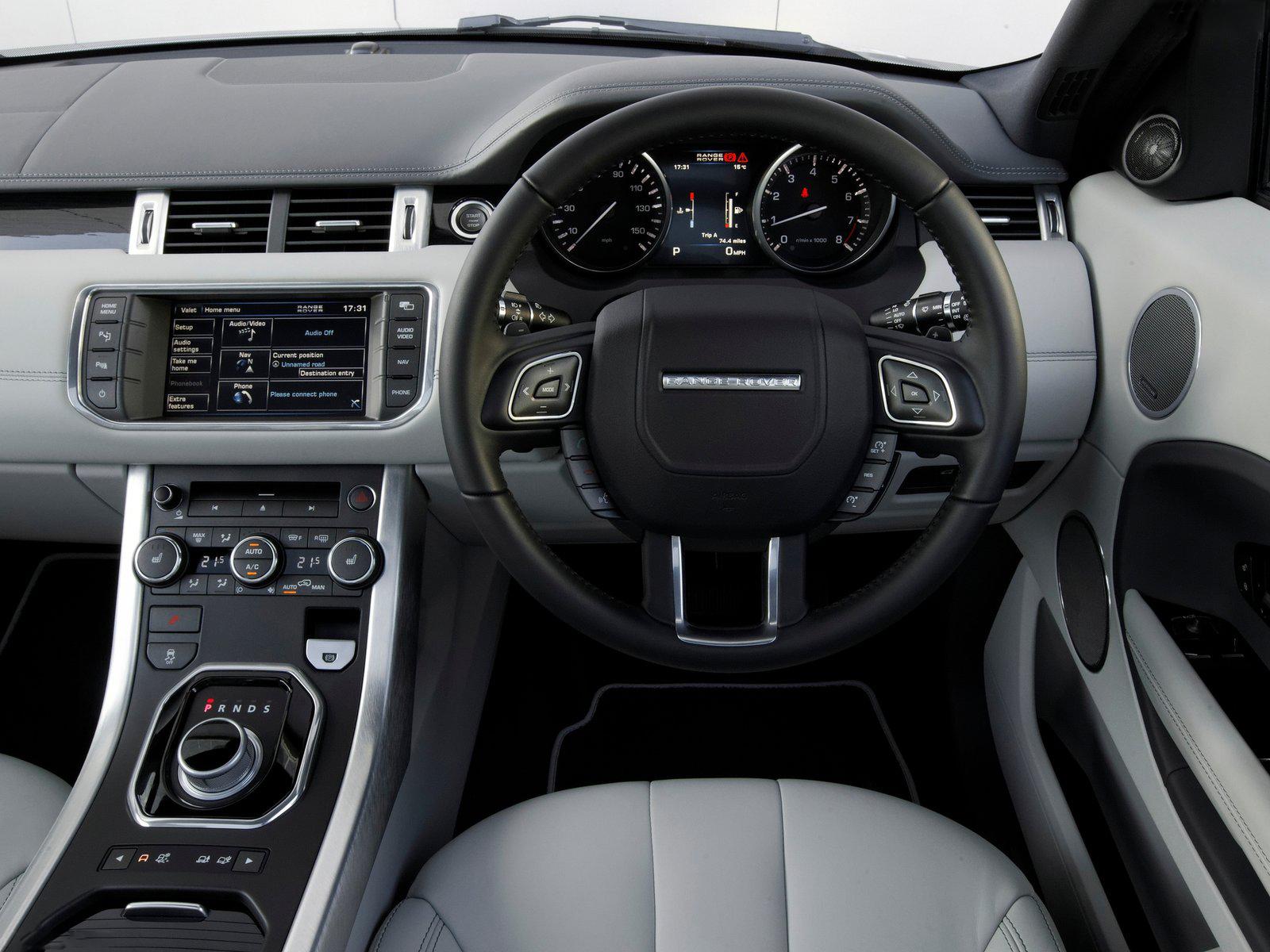 Automotive database range rover evoque inteiror dashboard fandeluxe Images