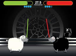 sheep, star wars, light sabers,
