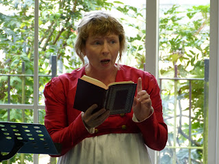 Rachel Knowles reading Emma in Bath library © Andrew Knowles