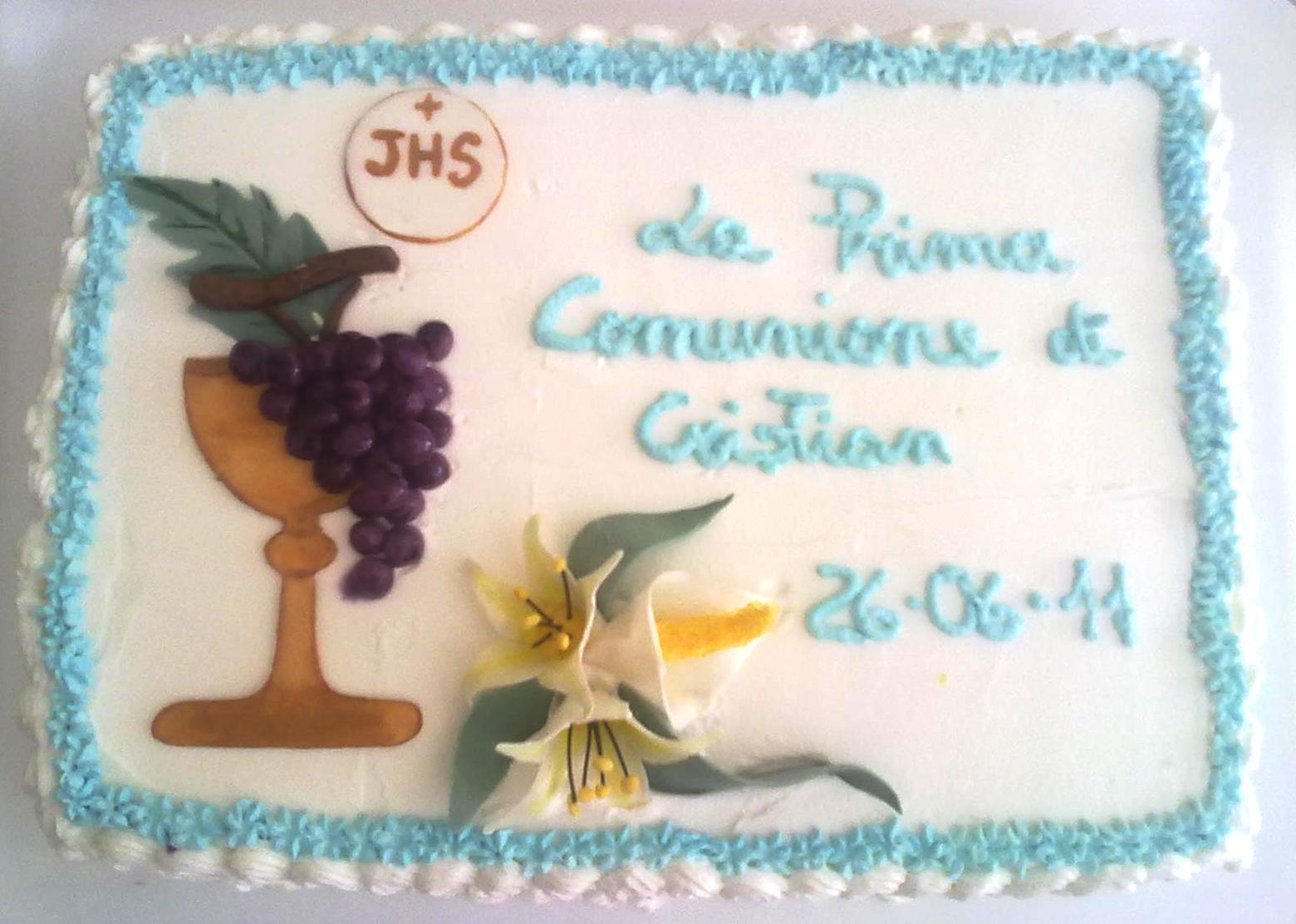Alessandra e i suoi dolci torta prima comunione for Decorazione x cresima
