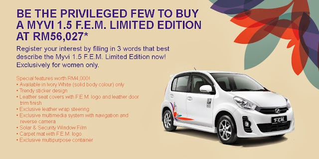 Perodua introduces limited edition FEM Myvi 1 5