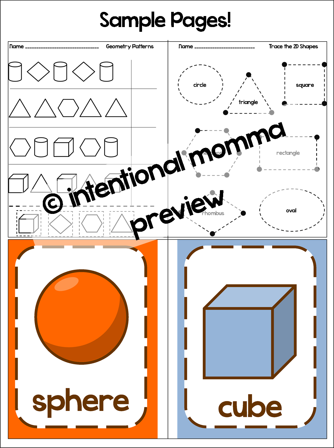 worksheet shape coloring pages