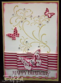 Rich Razzleberry Ribbon Birthday Card