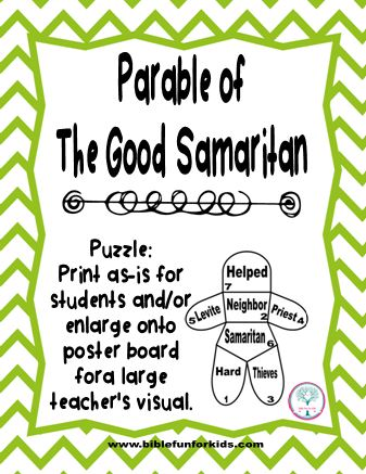 the parable of the good samaritan The parable of the good samaritan is provocative in its power to all who hear it  this is a parable that is about more than helping strangers.