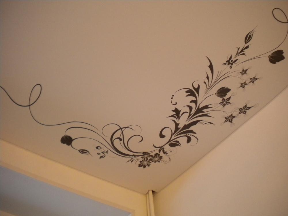 потолки натяжные с рисунком небо
