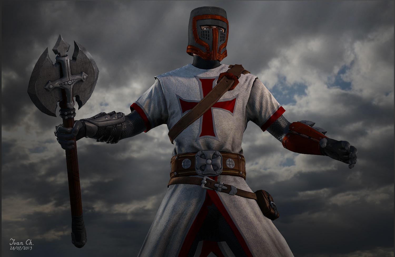 thetwinsartists  templar soldier