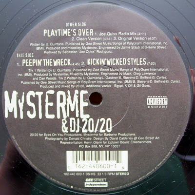 Mysterme & DJ 20/20‎– Playtime's Over / Peepin' The Wreck / Kickin' Wicked Styles (1994, VBR)