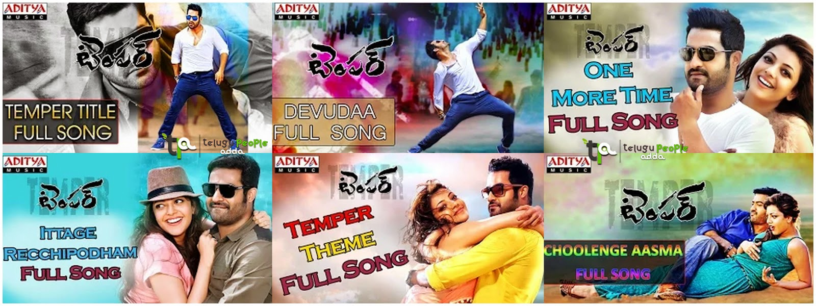 Temper Movie Full Songs | Jr.NTR | Kajal Agarwal
