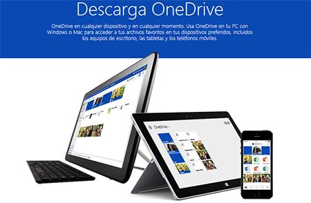 Descargar aplicaciones OneDrive